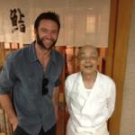 Hollywood start Hugh Jackman is a regular visitor at Sukiyabashi Jiro when in Tokyo