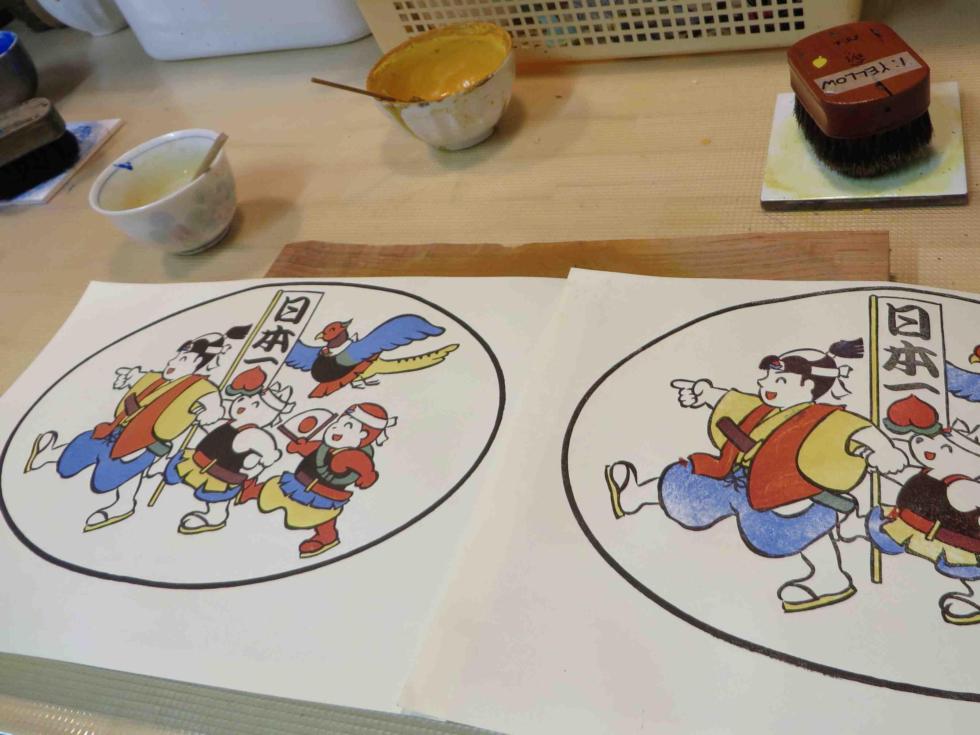 Final Momotaro prints