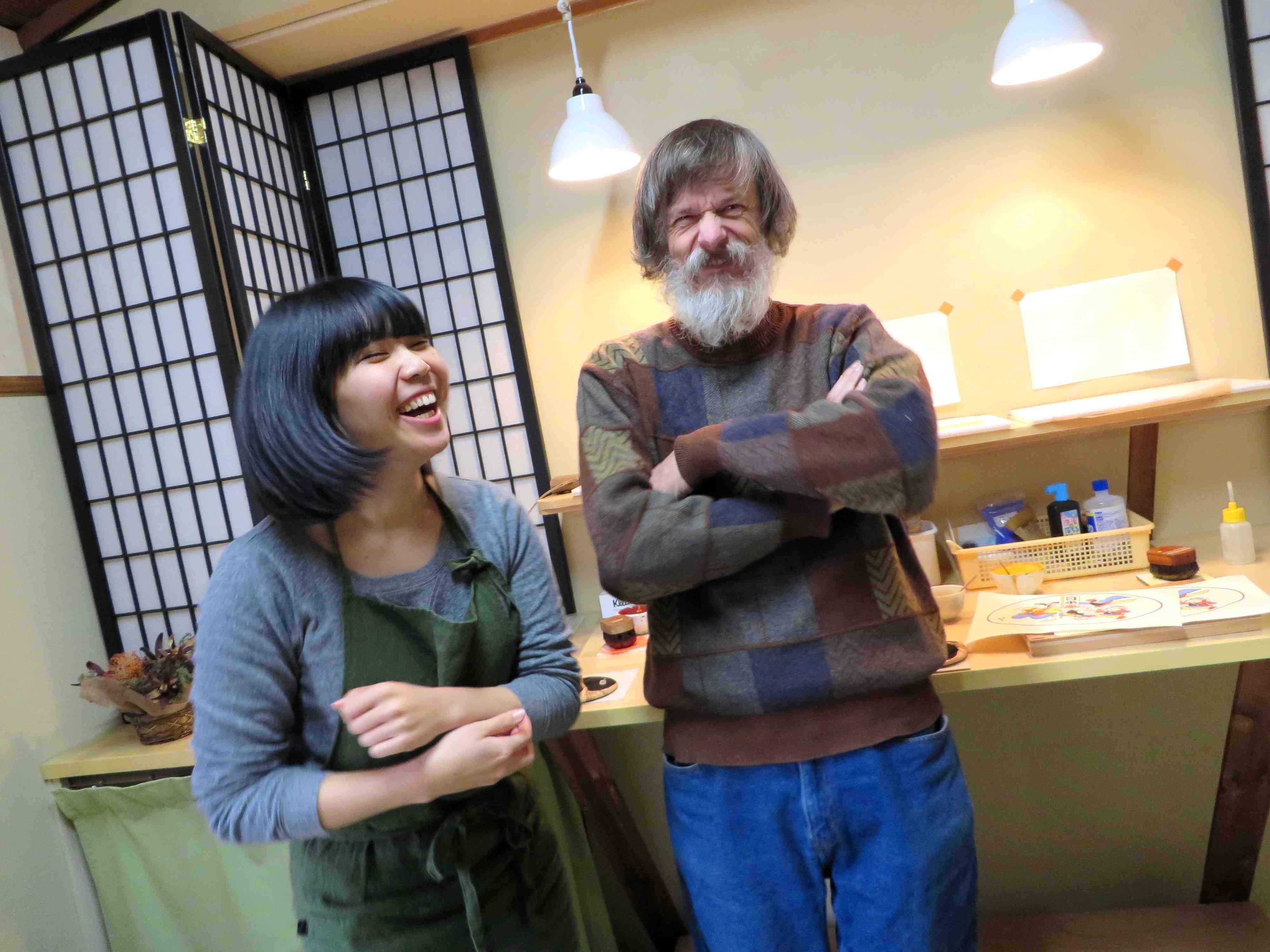 Printers Ayumi Miyashita and Dave Bull