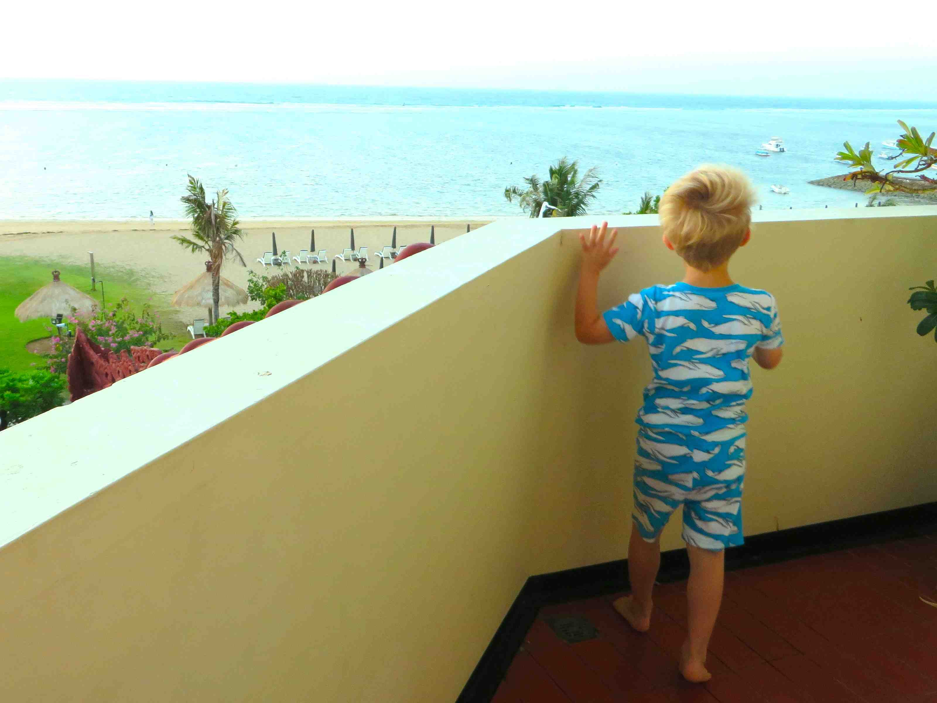 Resort room balcony