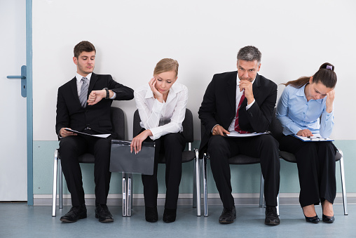 Businesspeople Waiting For Job Interview